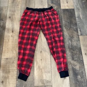 2/$25 Forever 21 Red and Black Plaid Pyjama Pants